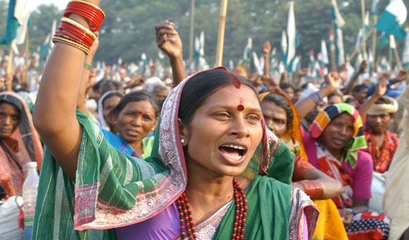 India Land Rights Protest